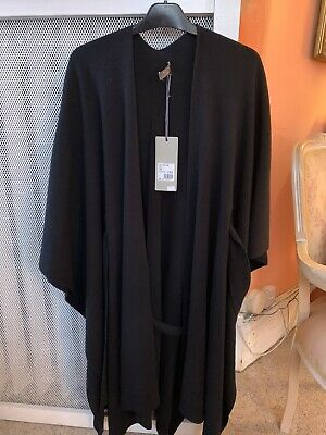 N Peal Black Cashmere Poncho - One Size • 350£