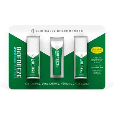 £21.20 • Buy 3 BIOFREEZE Cold Therapy Pain Relief Roll-On Gel Tube Multi Pack Bonus EXP 04/22