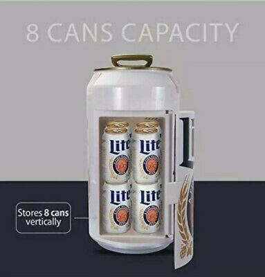 $119.99 • Buy Miller Lite Can Mini Fridge 059586648014 Can Cooler, Car Or Boat Collectible