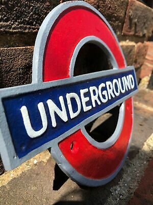 London Underground, Tube,  Cast Iron Reproduction Sign Plaque • 13£