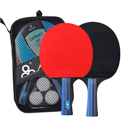AU19.52 • Buy Table Tennis Racket, Ping Pong Paddle Set With 2 Bats And 3 Ping Pong Ba^qi