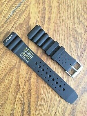 £9.95 • Buy NEW Divers N.D Limits Silicone Watch Strap ,flexible Subtle Quality. SEIKO.