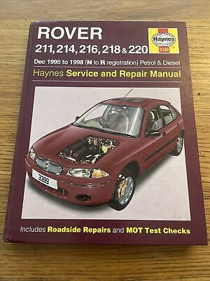 Hayes Service And Repair Manual: Rover 211, 214, 216, 218 & 220 • 3.70£