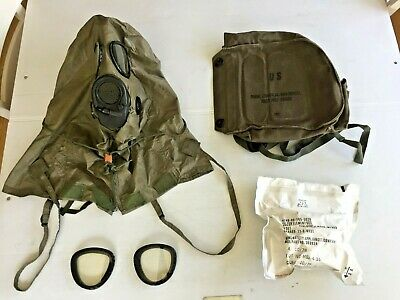 $69.95 • Buy  M17a1/a2 Small Chem/biological Gas Mask, Hood, New Filter, Carry Case & Access.
