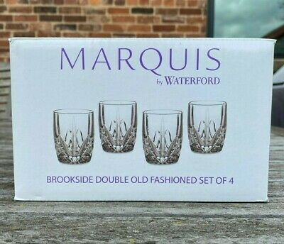 AU57.68 • Buy Set Of 4 Waterford Crystal Marquis Brookside DOF Double Old Fashioned NIB151681