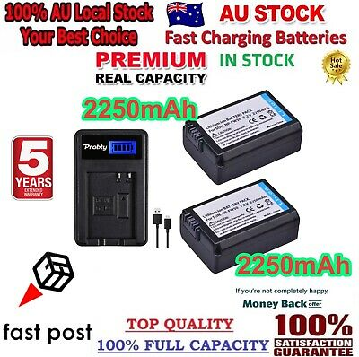 AU32.98 • Buy 2X 2000mAh NP-FW50 Battery + LCD Charger For Sony Alpha A5000 A6000 A7 A7R