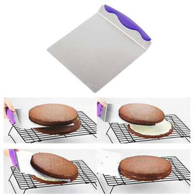1x Stainless Steel Cake Pizza Shovel Transfer Cake Tray Moving Plate Cake Lifter • 10.99£