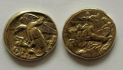 £60 • Buy GREEK ANCIEN COIN WARRIOR IN 4 HORSES CRAWN CARRIAGE.GOLD.MUSEUM Reprint.