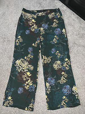 River Island Ladies Wide Leg Floral Trousers Size 16 • 5£