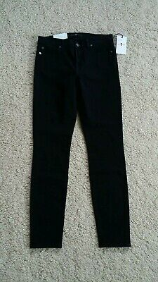 AU89.30 • Buy Bnwt 7 For All Mankind Womens Super Skinny Black Jeans W 29 L 30 Zip Fly Jegging