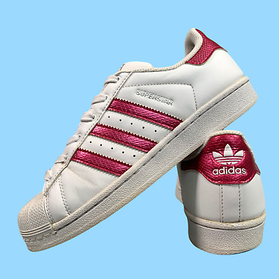 AU28.44 • Buy Adidas Superstar Women's Shoes Size Uk 5 White Pink Casual Trainers EUR 38