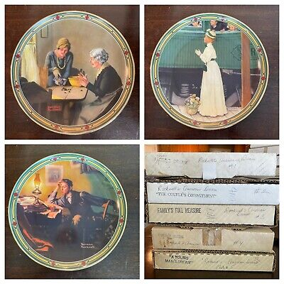 $ CDN61.51 • Buy Norman Rockwell American Dream Collection Plates By Knowles Limited Edition (8)