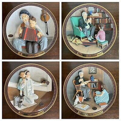 $ CDN94.15 • Buy Norman Rockwell Centennial Collection 3D Plates By Knowles Limited Edition (8)