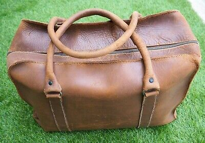 Vintage Tan Leather Doctors / Gladstone Bag - Lovely Quality And Interior  • 40£