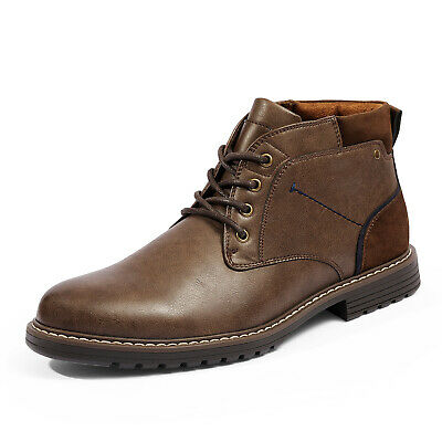 $28.30 • Buy Mens Casual Chukka Boot Dress Boots Leather Durable Stylish Shoes For Men