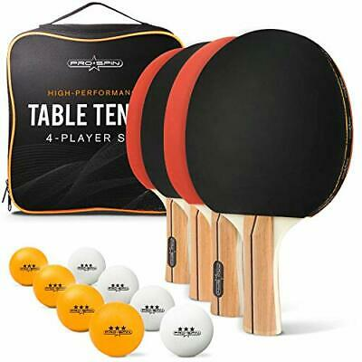 AU80.97 • Buy PRO SPIN Table Tennis Set With Premium Table Tennis Bats And Balls | Includes