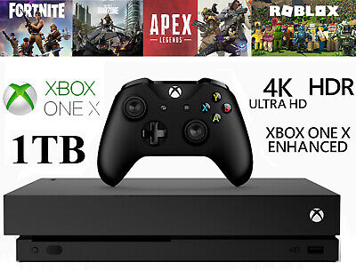 AU468.82 • Buy Microsoft Xbox One X 1TB 4K HDR Black Games Console Stock UK Seller! FAST