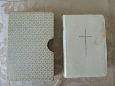 £13 • Buy Vintage Collins Emerald Book Of Common Prayer With Hymns White Leatheroid Silver
