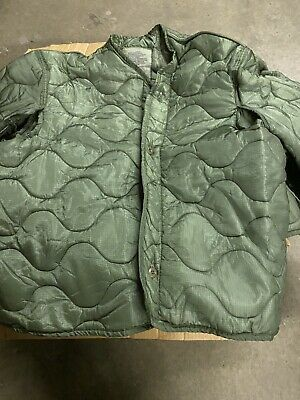$23 • Buy New U.S. MILITARY M65 FIELD JACKET COAT LINER New M-65 Quilted Size L W/Buttons