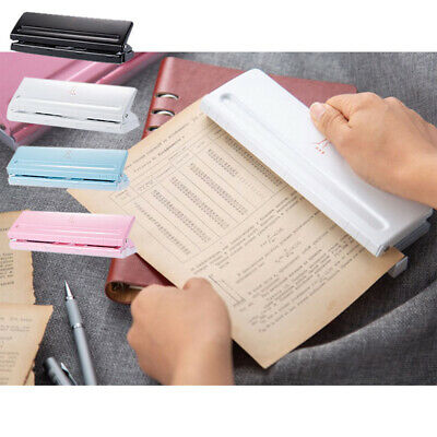AU24.92 • Buy Paper Punch 6 Hole Loose Leaf Standard Puncher Adjustable Binding Stationery Hb