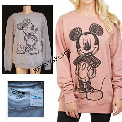 £19.99 • Buy DISNEY Mickey Mouse Sweatshirt S-M-L *OFFICIAL* RRP;£45 *BNWT* Grey Or Pink