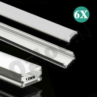 AU7.50 • Buy 6X 1M Alloy Channel Aluminum Bar With Frosted Cover Profile For LED Strip Light