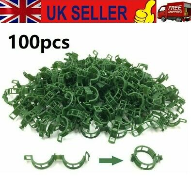 £5.66 • Buy 100Pcs Tomato And Veggie Garden Plant Support Clips For Trellis Twine Greenhouse