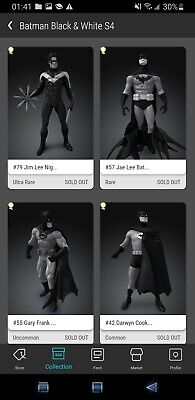 AU3867.43 • Buy Veve NFT Batman B&W COMPLETE SET SERIES 4 - SOLD OUT! NIGHTWING