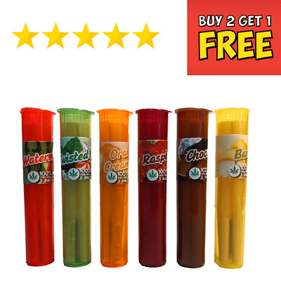 £4.49 • Buy Tasty Puff Cones Flavoured Pre-Rolled Rolling Papers 98mm Hemp  Filter Tip Rolls