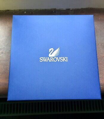 £13.50 • Buy Large SWAROVSKI Empty Jewellery Necklace Hinged Gift Box With Outer Sleeve