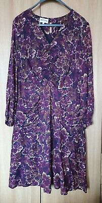 Brora Purple Floral Pocketed Dress Size 14 • 34.99£