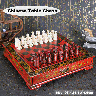 £29.99 • Buy Chinese Large Wooden Table Chess Set Folding Chessboard Pieces Wood Board Gift