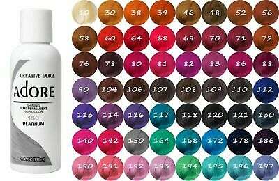 £7.49 • Buy ADORE COLOR SEMI PERMANENT HAIR DYE 118ml - All Colours - !! Free UK Postage-!!