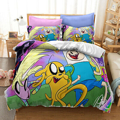 AU80.02 • Buy Anime Adventure Time 3D Bedding Set Duvet Covers Cosplay Bed Bedclothes Gift