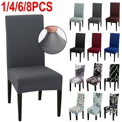 AU23.59 • Buy Stretch Chair Cover Seat Covers Spandex Lycra Washable Banquet Wedding Party NEW