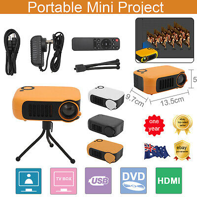 AU37.89 • Buy Mini Portable Pocket Projector HD 1080P LED Home Theater Video Projector HDMI