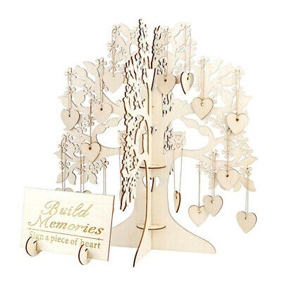 £13.02 • Buy Wedding Wishing Tree Set Guest Book Party Home Hearts Pendant DIY Signing Card