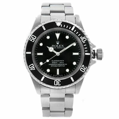 $ CDN11904.15 • Buy Rolex Submariner No-Date Holes Steel Black Dial Automatic Mens Watch 14060M