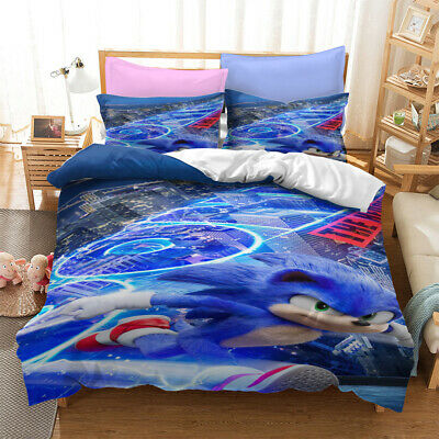AU80.02 • Buy Anime Sonic The Hedgehog 3D Bedding Set Duvet Covers Cosplay Bed Bedclothes 0220