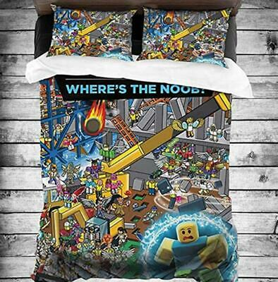 AU80.02 • Buy Anime Game Roblox 3D Bedding Set Duvet Covers Cosplay Home Bed Bedclothes 002