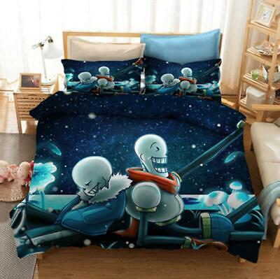 AU80.02 • Buy Anime Undertale Sans 3D Bedding Set Duvet Covers Cosplay Home Bed Bedclothes