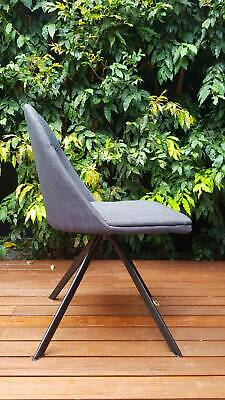 AU300 • Buy 6 X Modern Swivel Dining Chairs Charcoal (Sokol Designer Furniture)