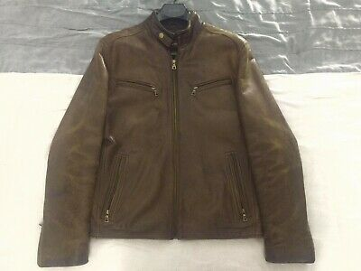 $ CDN73.08 • Buy Danier Mens Brown Bomber Leather Jacket Size Small Genuine Leather S