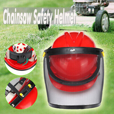 £13.73 • Buy Protective Chainsaw Forestry Safety Helmet Hat W/ Face Metal Mesh Visor