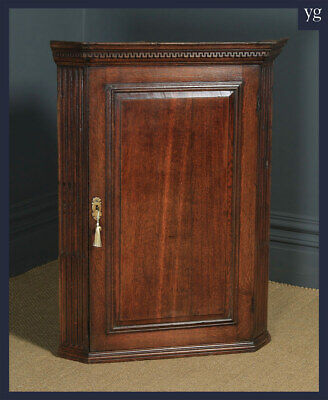 AU1441.71 • Buy Antique English Georgian Oak Wall Hanging Corner Cupboard / Cabinet (Circa 1780)