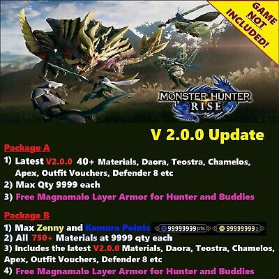 AU25.74 • Buy Monster Hunter Rise Save Editing, NOT A GAME