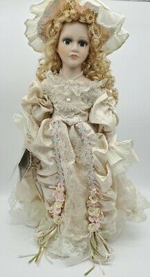 $ CDN35.08 • Buy Fantasy Doll Collection Porcelain Victorian Blonde  Kirk Trading Co. W/Stand