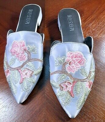 £16.28 • Buy Chinese Shoes / Slippers WomenFloral EmbroideredPointed Closed Toe Slip On