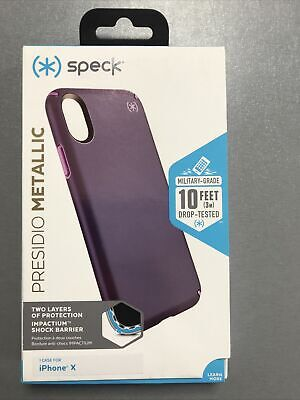 AU17.79 • Buy Speck Presidio Metallic Hybrid Case For Apple IPhone X & Xs, Green Or Purple