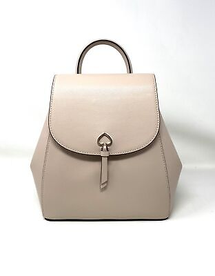 $ CDN162.29 • Buy Kate Spade Adel Medium Flap Leather Backpack Beige White WKRU6412